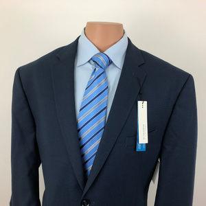 NEW Perry Ellis Portfolio Suit Jacket Blue Sz 48R